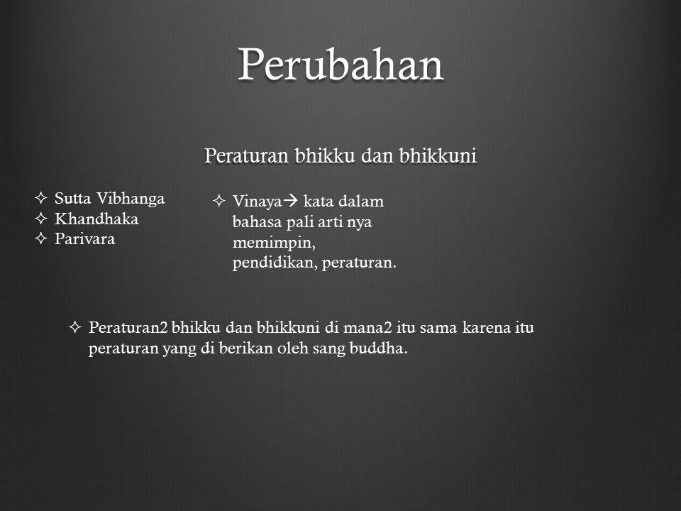 Peraturan bhikku dan bhikkuni
