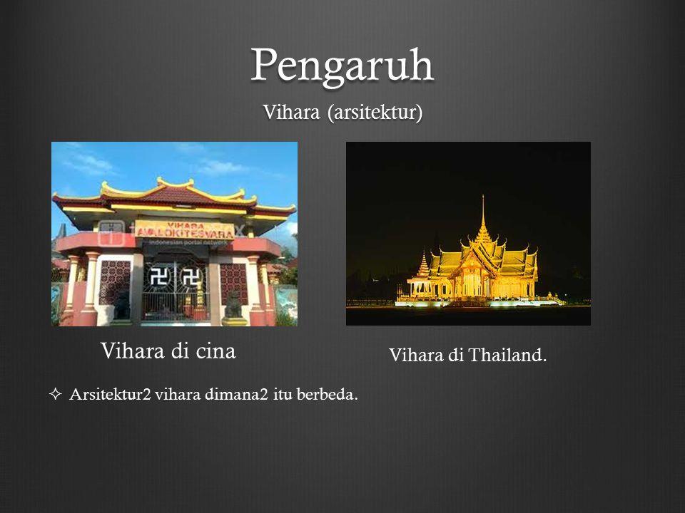 Pengaruh Vihara di cina Vihara (arsitektur) Vihara di Thailand.