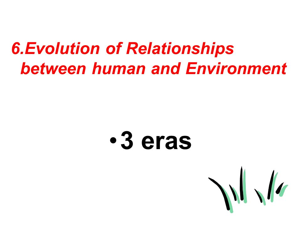 6.Evolution of Relationships between human and Environment