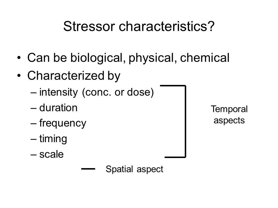 Stressor characteristics