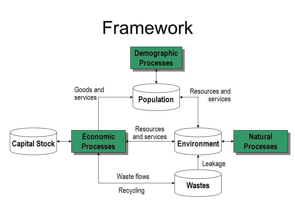 Framework Demographic Processes Population Capital Stock Environment