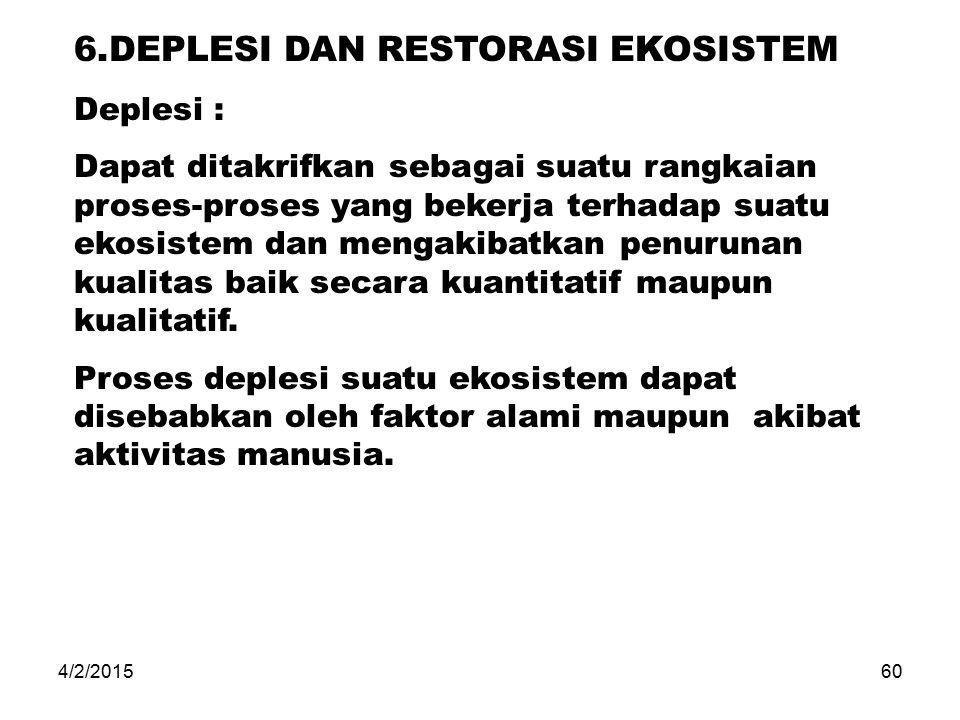 6.DEPLESI DAN RESTORASI EKOSISTEM