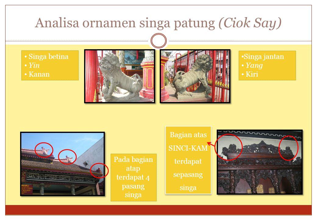Analisa ornamen singa patung (Ciok Say)
