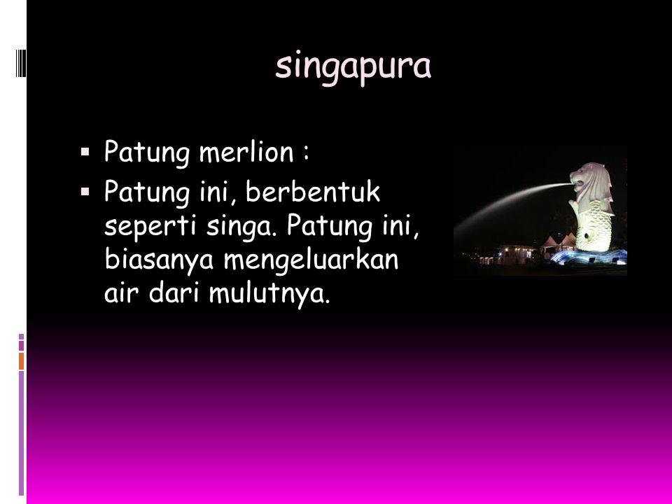 singapura Patung merlion :