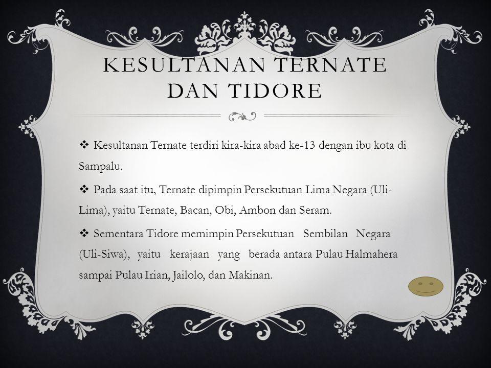 Kesultanan Ternate dan Tidore