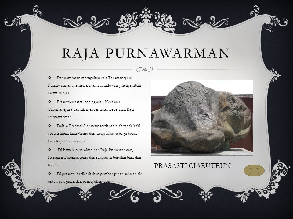 Raja Purnawarman PRASASTI CIARUTEUN