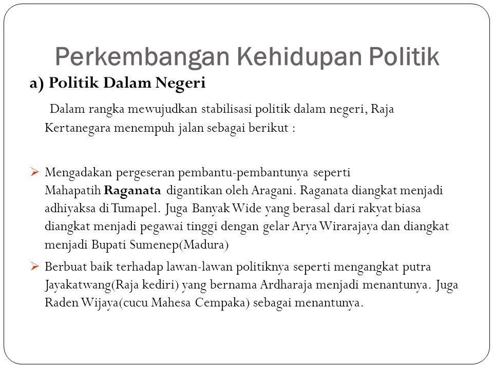 Perkembangan Kehidupan Politik
