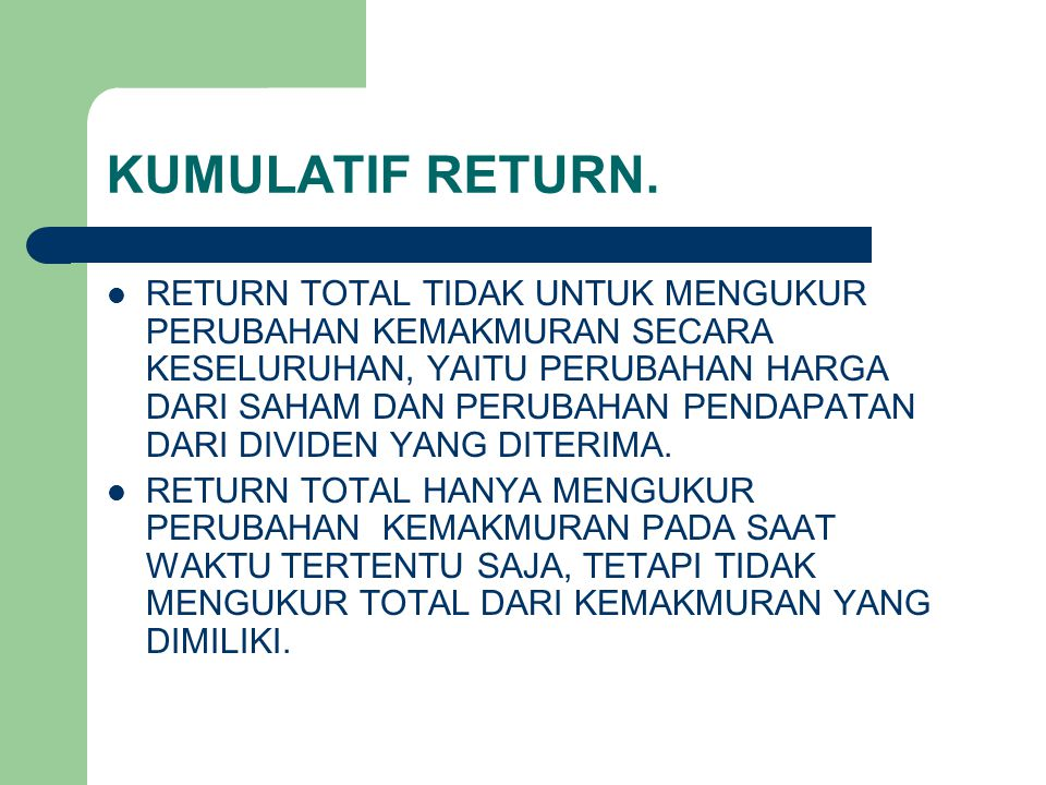 KUMULATIF RETURN.
