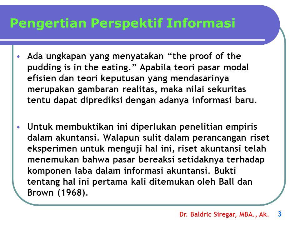 Pengertian Perspektif Informasi