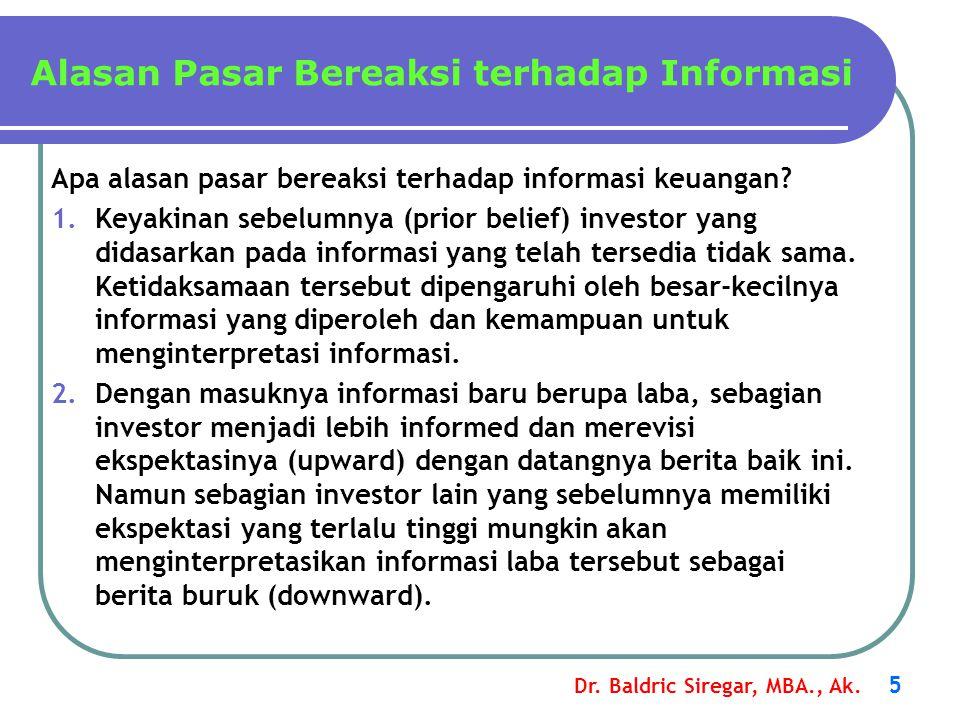 Alasan Pasar Bereaksi terhadap Informasi
