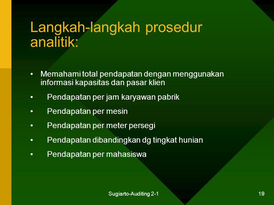 Langkah-langkah prosedur analitik: