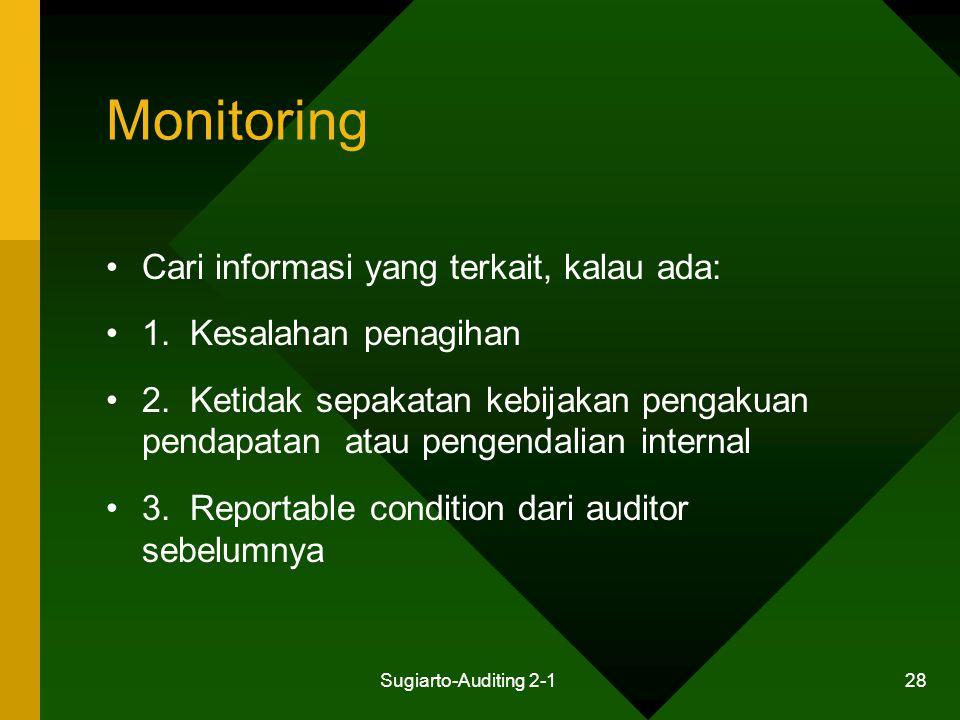 Monitoring Cari informasi yang terkait, kalau ada: