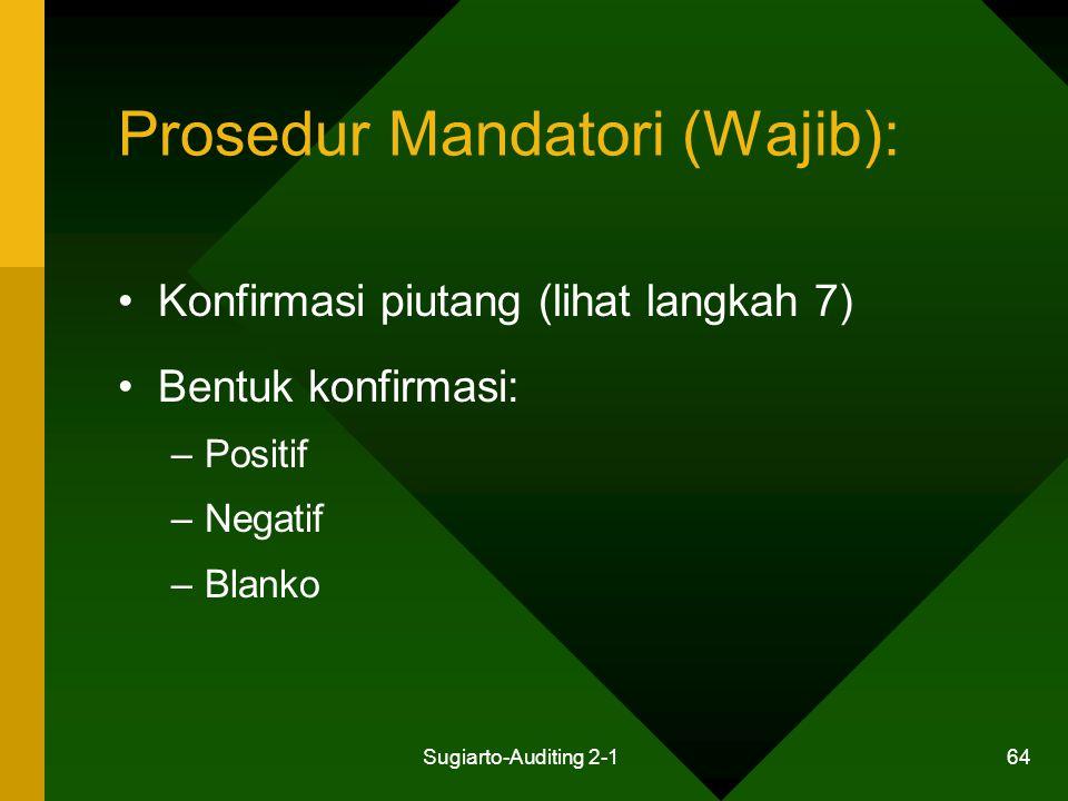 Prosedur Mandatori (Wajib):