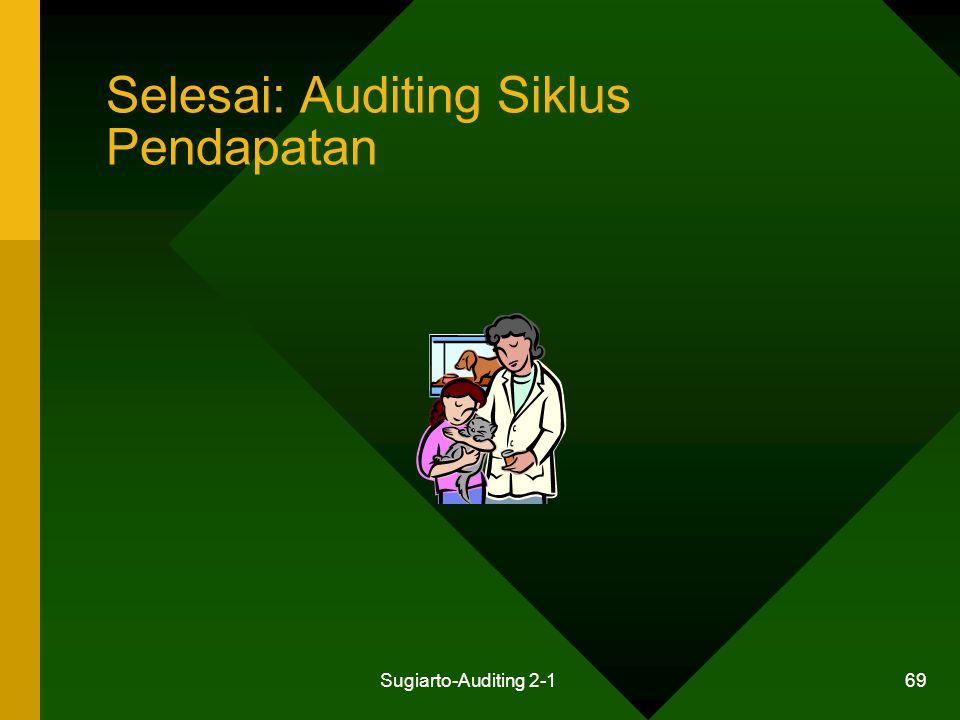 Selesai: Auditing Siklus Pendapatan