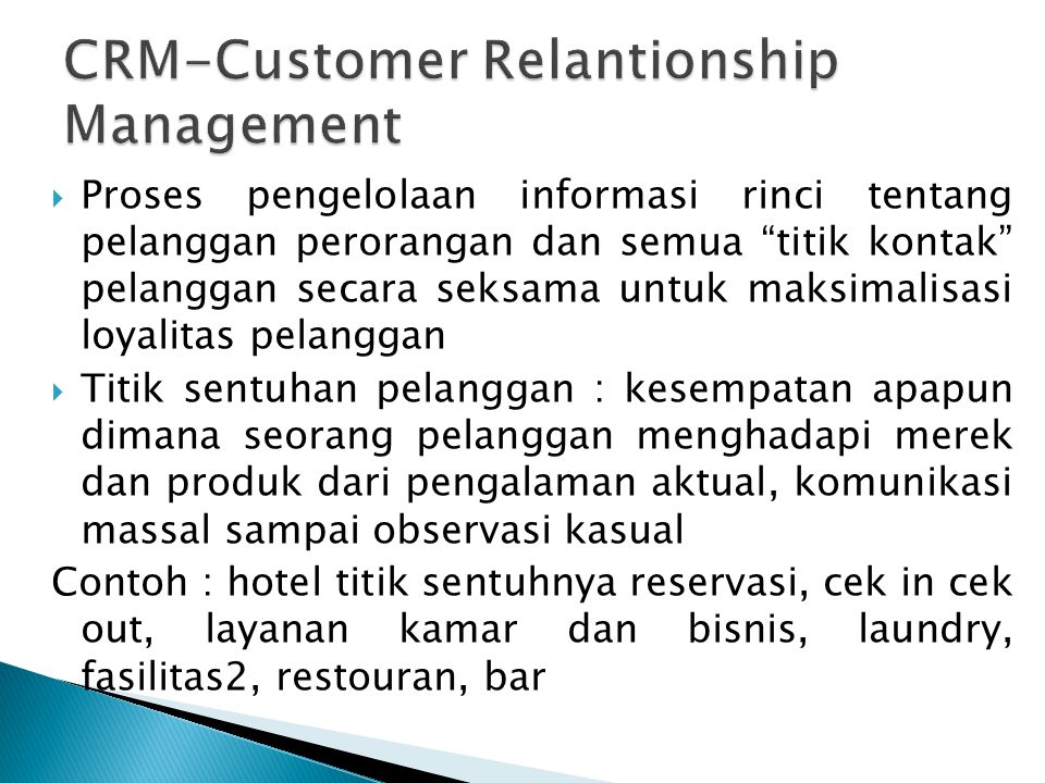 CRM-Customer Relantionship Management