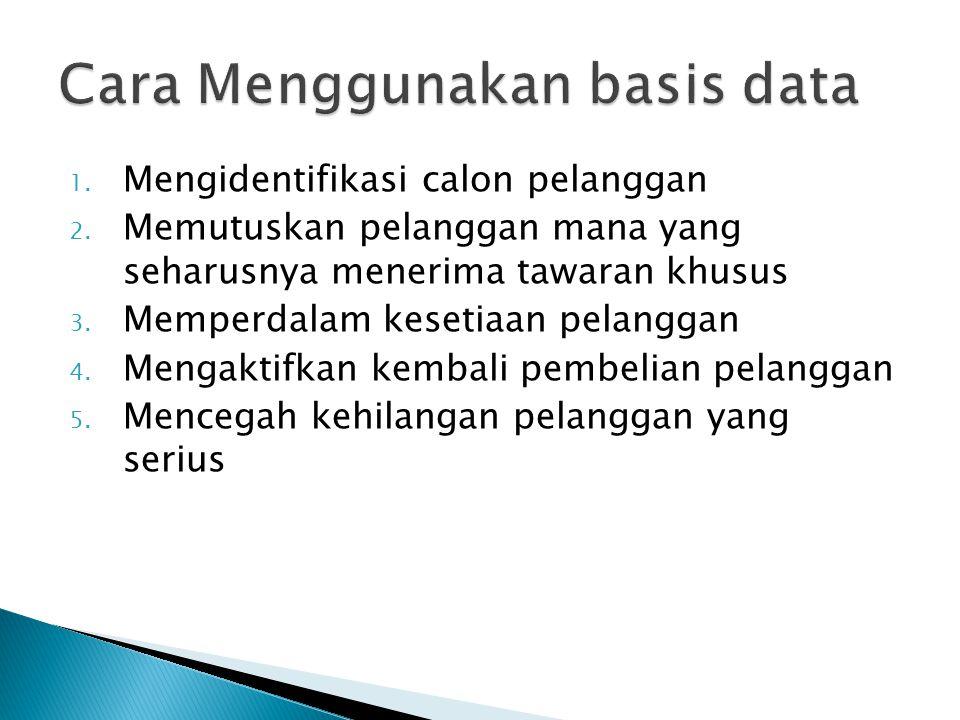 Cara Menggunakan basis data