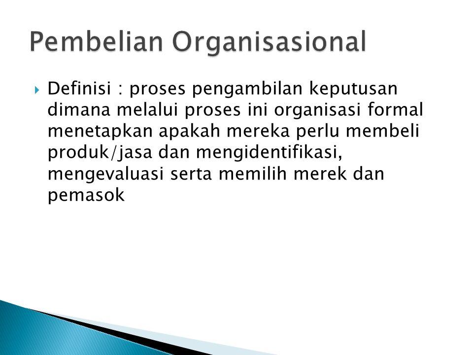 Pembelian Organisasional