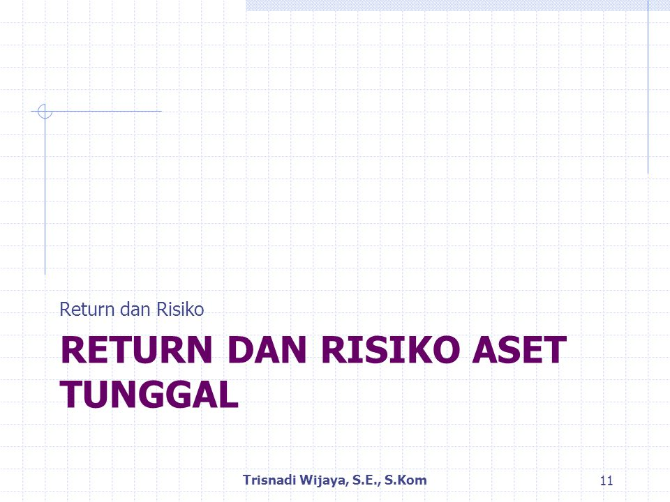 Return dan Risiko Aset Tunggal