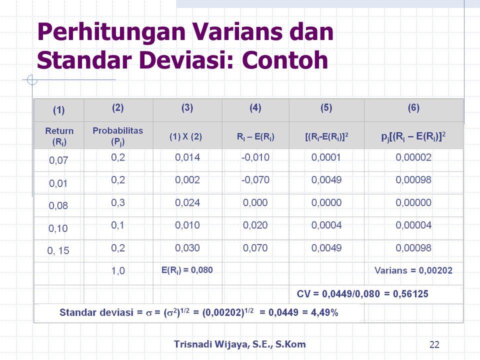 Perhitungan Varians dan Standar Deviasi: Contoh