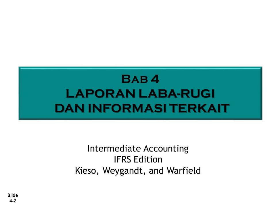 Bab 4 LAPORAN LABA-RUGI DAN INFORMASI TERKAIT Intermediate Accounting