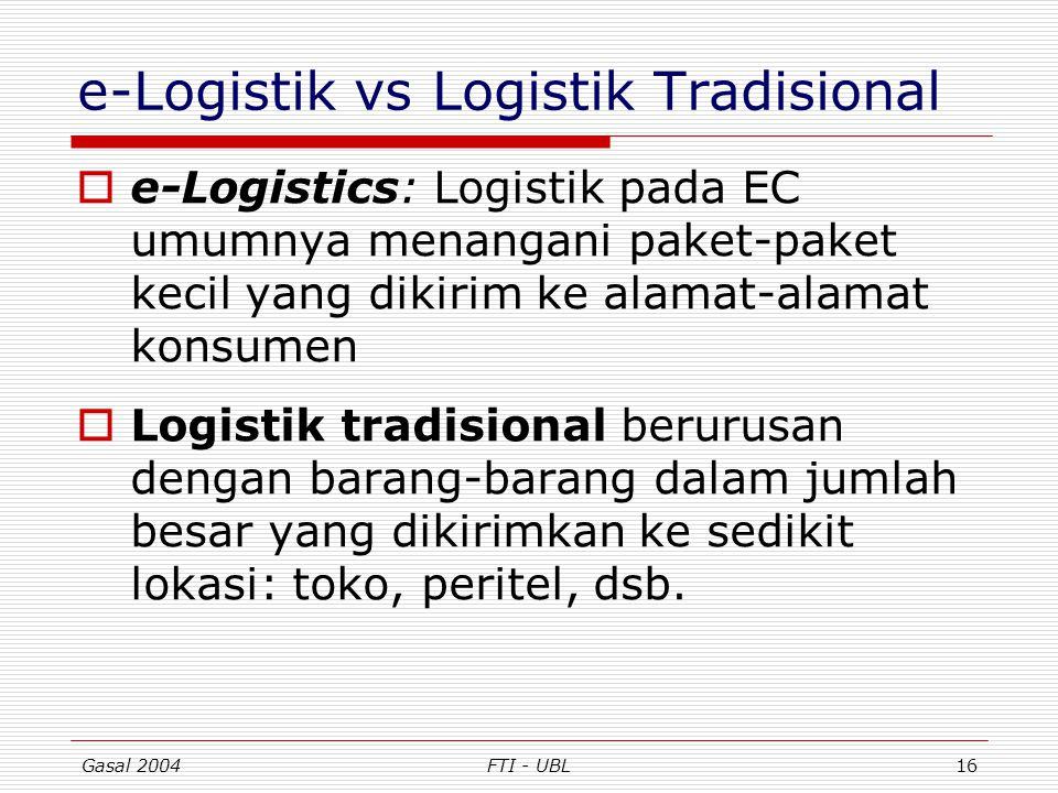 e-Logistik vs Logistik Tradisional