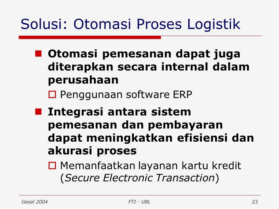 Solusi: Otomasi Proses Logistik