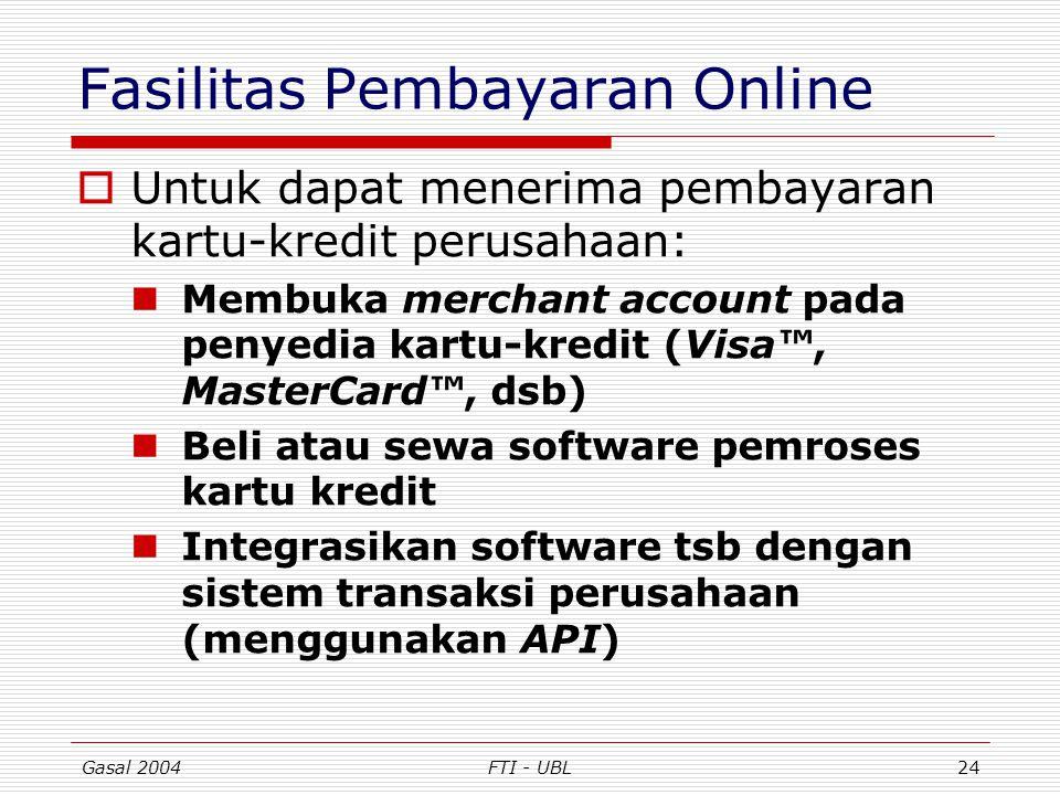 Fasilitas Pembayaran Online
