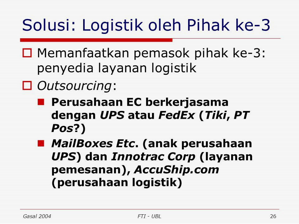 Solusi: Logistik oleh Pihak ke-3