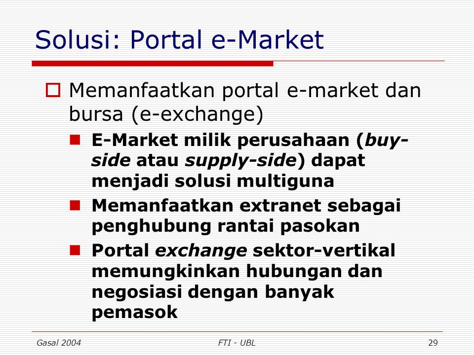 Solusi: Portal e-Market