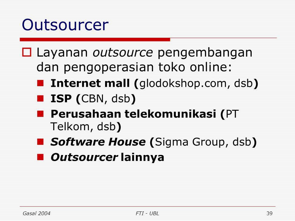 Outsourcer Layanan outsource pengembangan dan pengoperasian toko online: Internet mall (glodokshop.com, dsb)