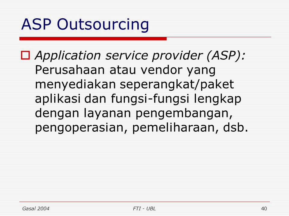 ASP Outsourcing