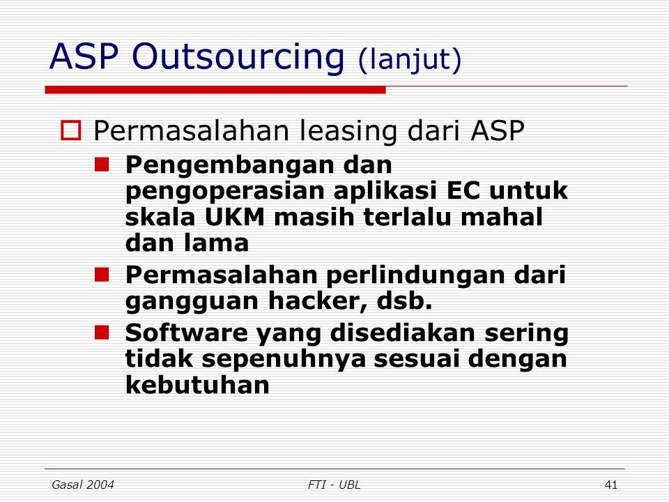 ASP Outsourcing (lanjut)