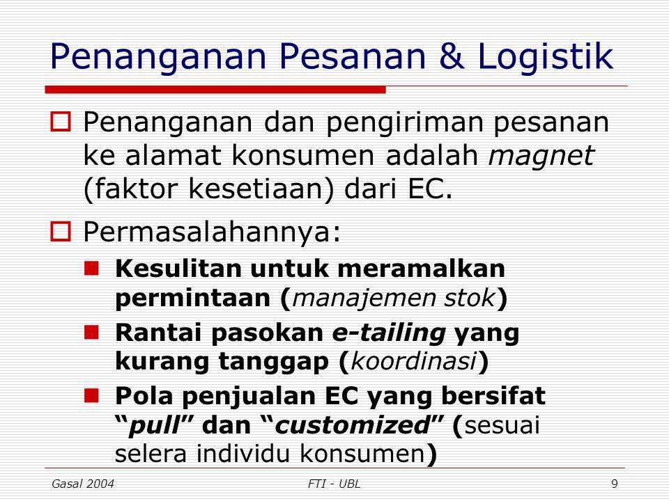 Penanganan Pesanan & Logistik