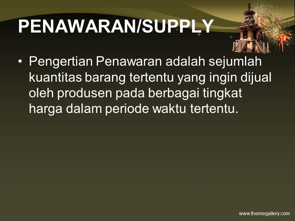 PENAWARAN/SUPPLY