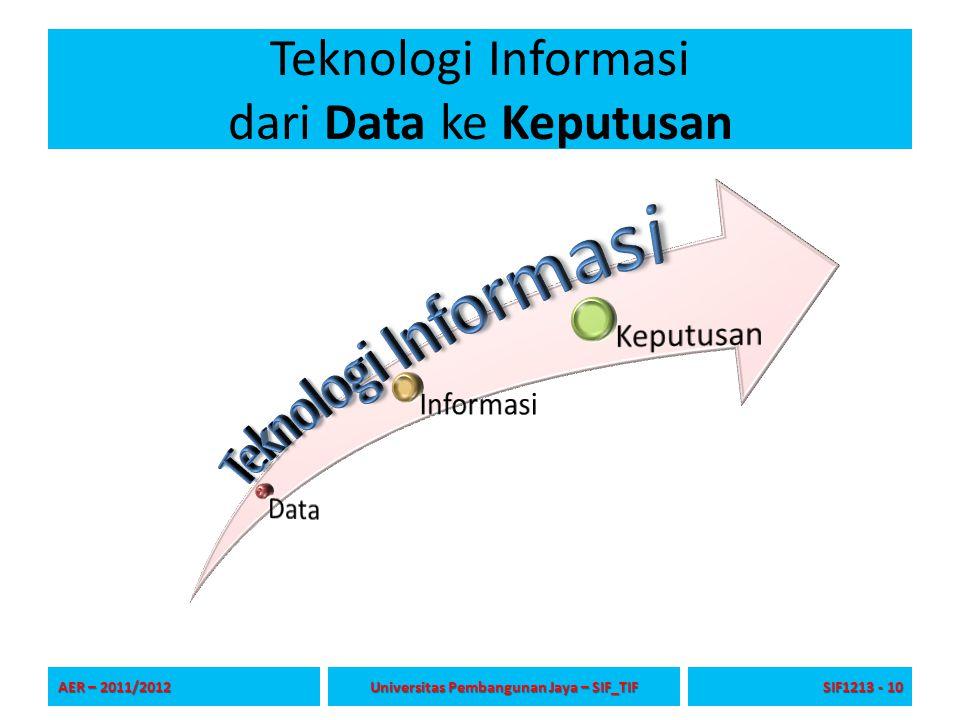 Teknologi Informasi dari Data ke Keputusan