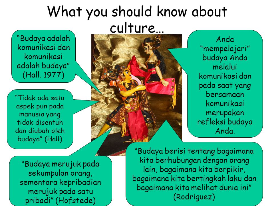 What you should know about culture…