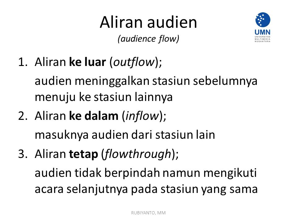 Aliran audien (audience flow)