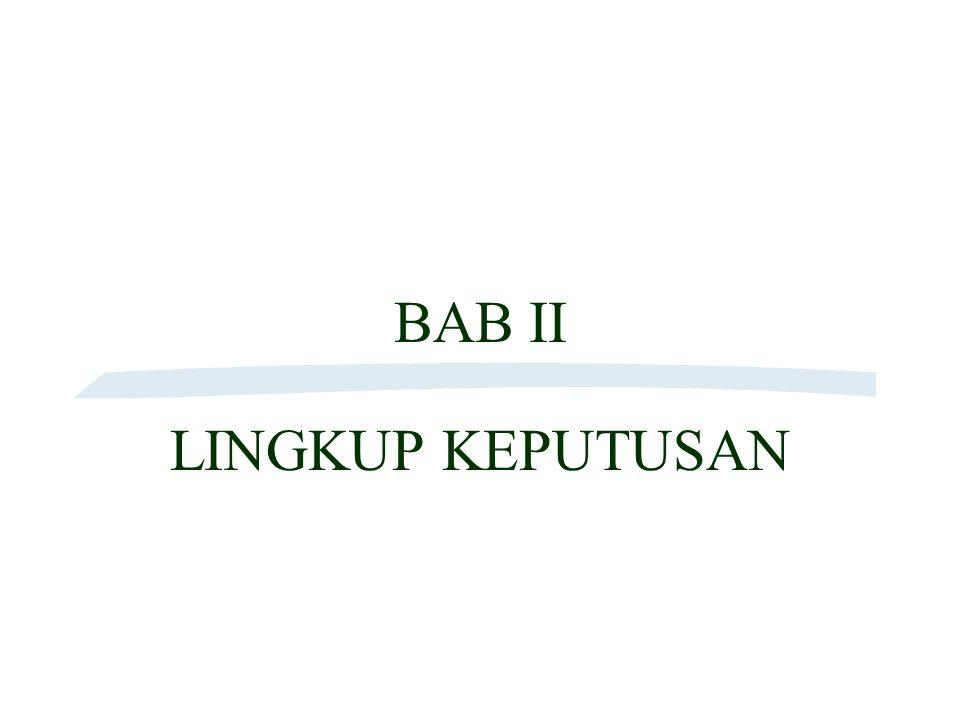 BAB II LINGKUP KEPUTUSAN