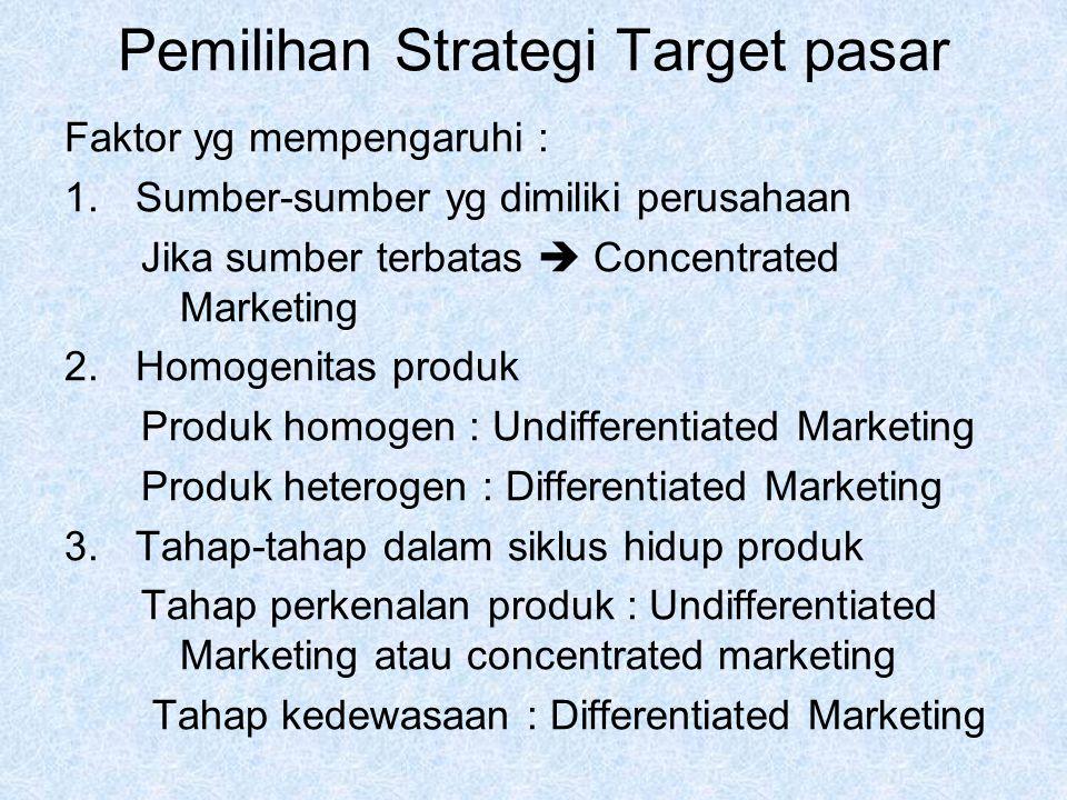 Pemilihan Strategi Target pasar