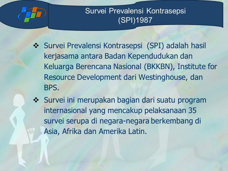 Survei Prevalensi Kontrasepsi (SPI)1987
