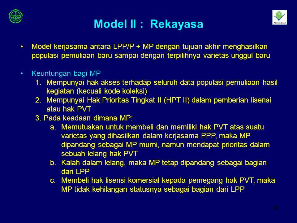 Model II : Rekayasa