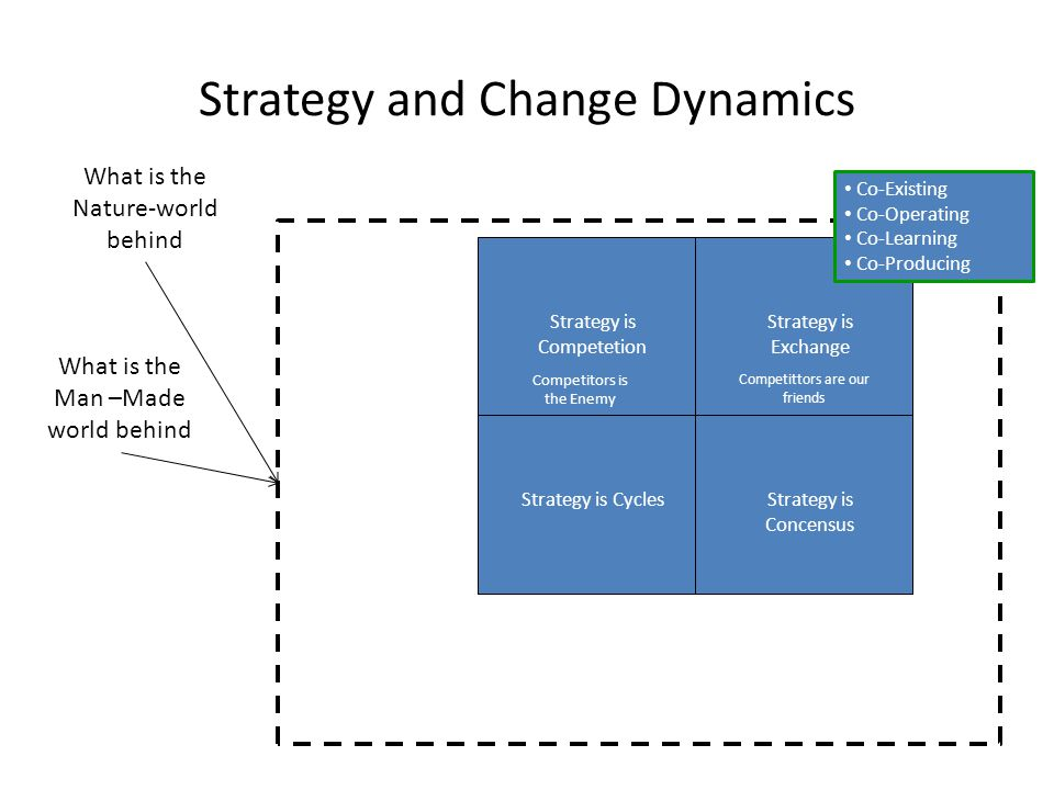 Strategy and Change Dynamics