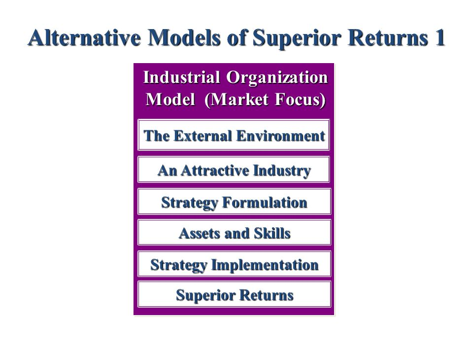 Alternative Models of Superior Returns 1