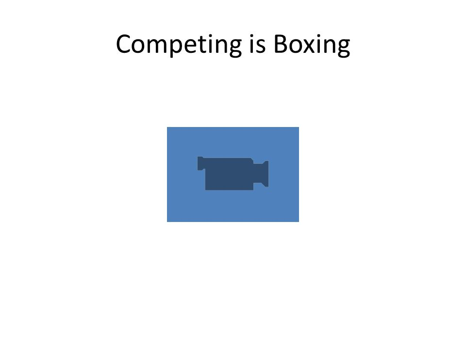 Competing is Boxing
