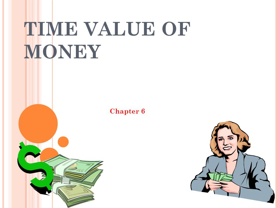 TIME VALUE OF MONEY Chapter 6