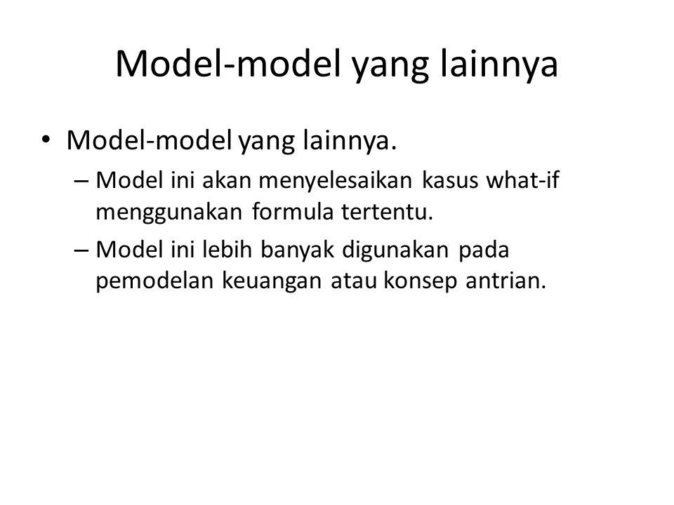 Model-model yang lainnya
