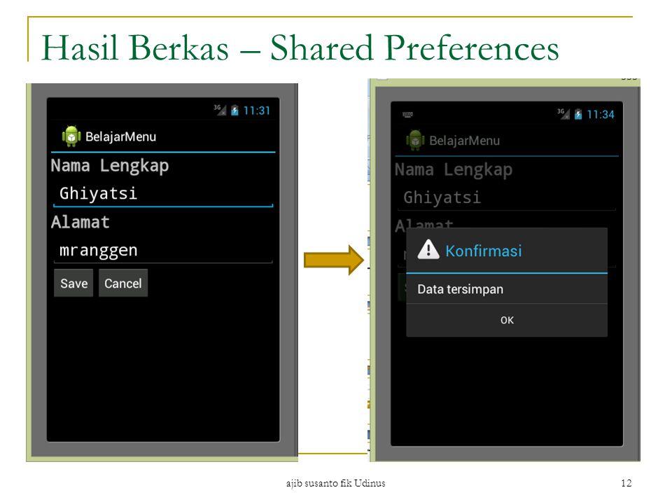 Hasil Berkas – Shared Preferences