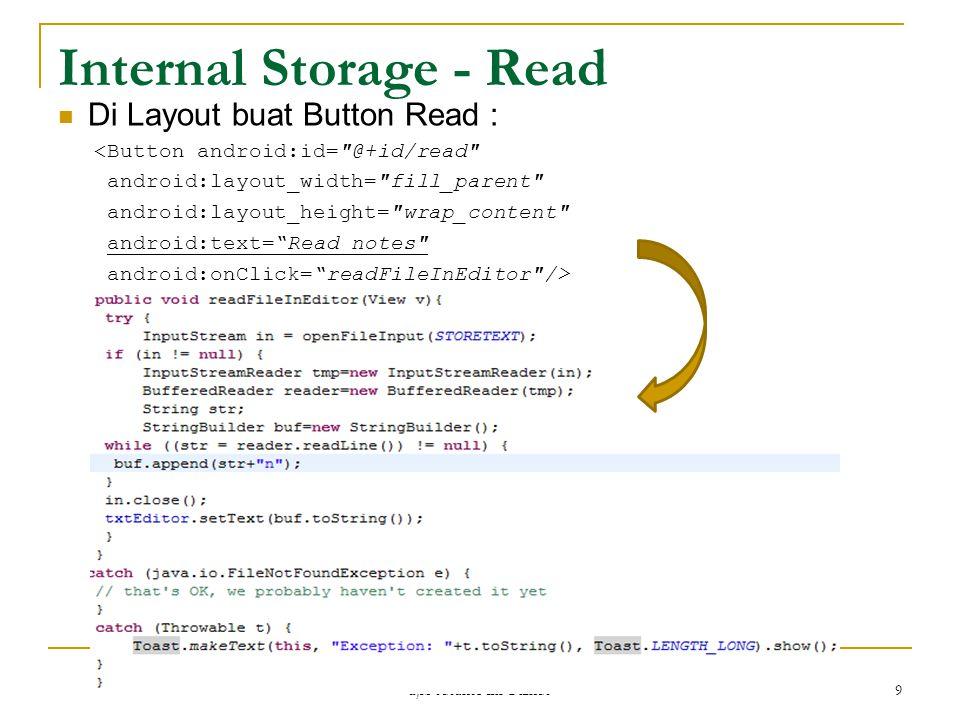 Internal Storage - Read