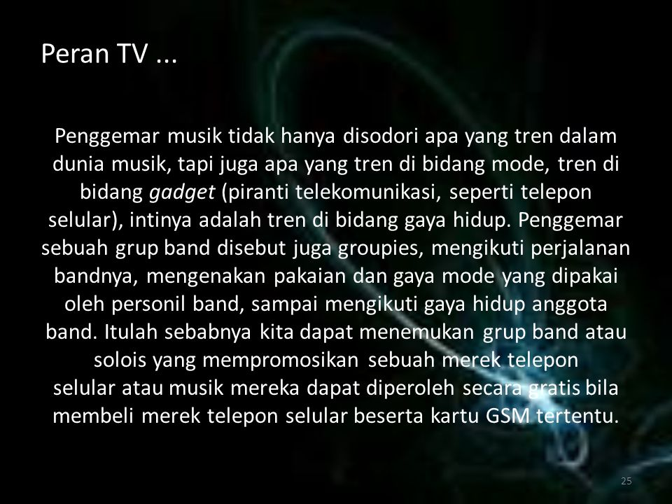 Peran TV ...