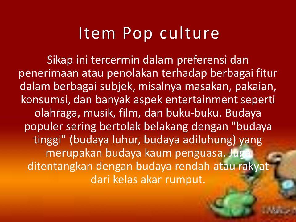 Item Pop culture